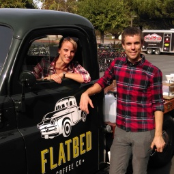 Check us our in our sweet truck!